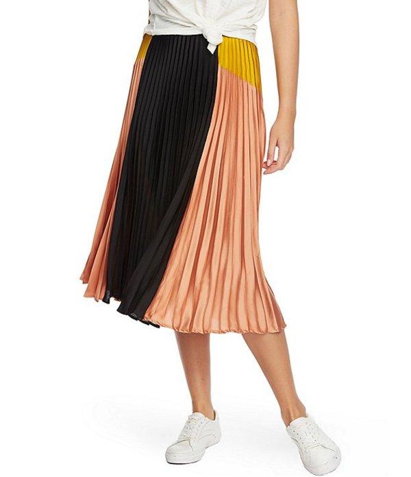 ワンステート レディース スカート ボトムス 1. State Colorblock Pleated Midi Skirt Festival Blush