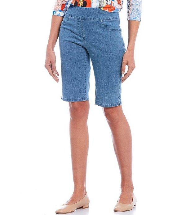 ルビーアールディー レディース ハーフパンツ・ショーツ ボトムス Stretch Denim Pull-On Bermuda Shorts Blue Denim