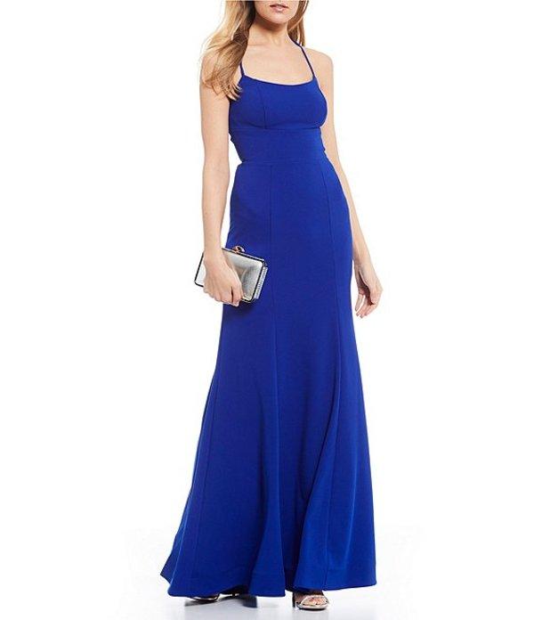 ビーダーリン レディース ワンピース トップス Spaghetti Strap Lace-Up-Back Long Dress Electric Blue