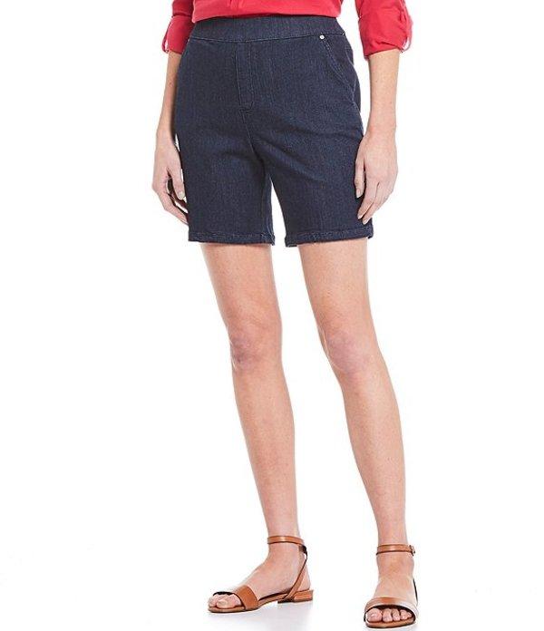 イントロ レディース ハーフパンツ・ショーツ ボトムス Rose Stretch Pull-On Denim Shorts Freedom Dark Wash