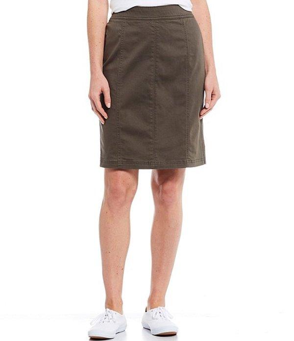 ウエストバウンド レディース スカート ボトムス Seamed Pull-On Skirt Olive