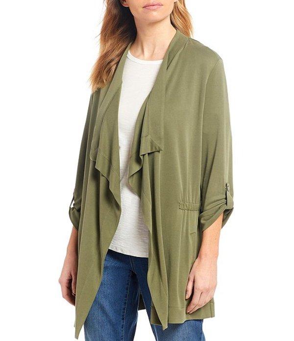 ウエストバウンド レディース ジャケット・ブルゾン アウター Cascade 3/4 Sleeve Drape Front Roll-Tab Sleeve Jacket Deep Lichen Green