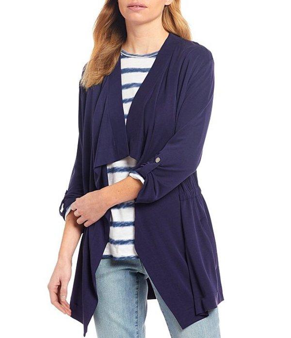 ウエストバウンド レディース ジャケット・ブルゾン アウター Cascade 3/4 Sleeve Drape Front Roll-Tab Sleeve Jacket Evening Blue