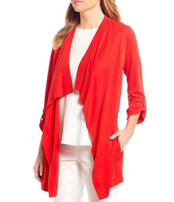 ウエストバウンド レディース ジャケット・ブルゾン アウター Cascade 3/4 Sleeve Drape Front Roll-Tab Sleeve Jacket Mars Red