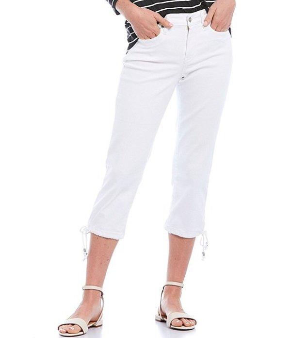 エヌワイディージェイ レディース デニムパンツ ボトムス Petite Size Drawcord Hem Capri Jeans Optic White