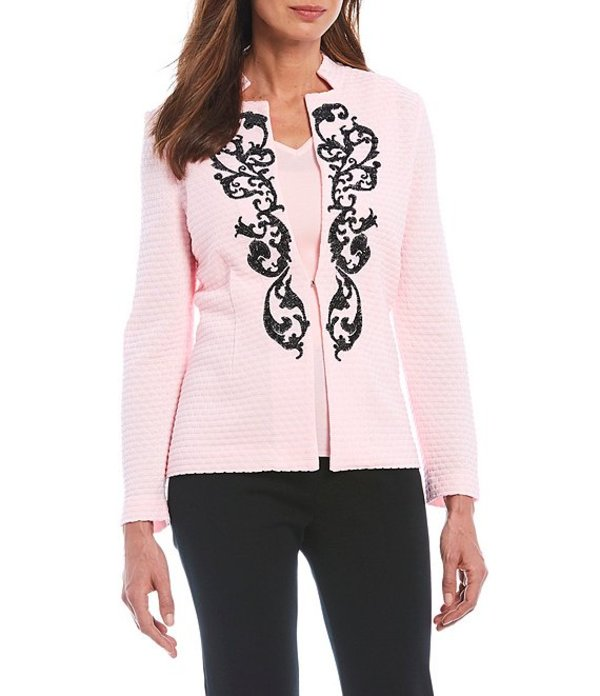 ミンウォン レディース ジャケット・ブルゾン アウター Long Sleeve Embroidered Notch Collar Jacket Sugar/Black