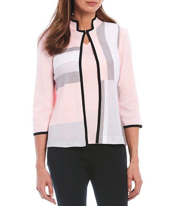 ミンウォン レディース ジャケット・ブルゾン アウター 3/4 Sleeve Mandarin Collar Colorblock Jacket Sugar/Sterling/White/Black