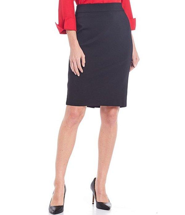 インベストメンツ レディース スカート ボトムス Petite Size Elite Stretch Back Zip Pencil Skirt Black