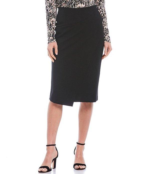 ダナキャラン レディース スカート ボトムス New York Faux Wrap Skirt Black