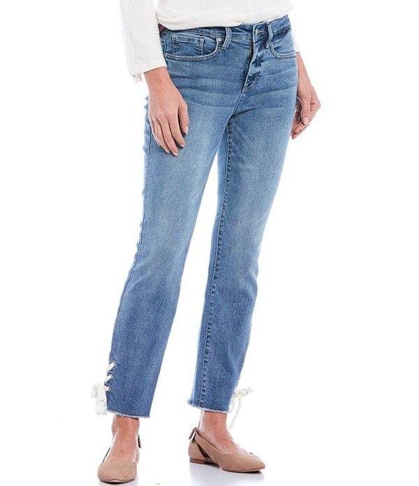 エヌワイディージェイ レディース デニムパンツ ボトムス Sheri Fray Lace-Up Hem Ankle Jeans Coheed