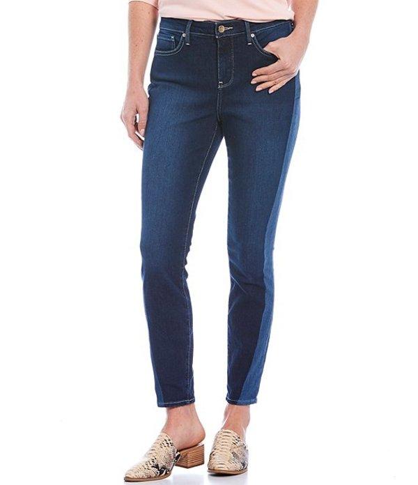 エヌワイディージェイ レディース デニムパンツ ボトムス Ami Side Seam Stripe Ankle Jeans Angled Laser