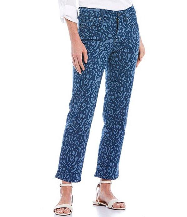 エヌワイディージェイ レディース デニムパンツ ボトムス Marilyn Leopard Print Straight Leg Ankle Jeans Wild Animal Discharge