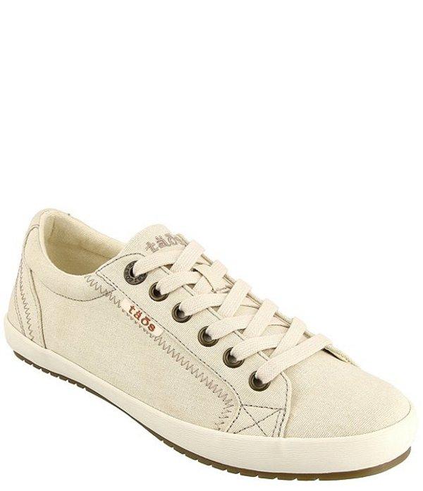 タオスフットウェア レディース スニーカー シューズ Star Washed Canvas Lace-Up Sneakers Beige Washed Canvas