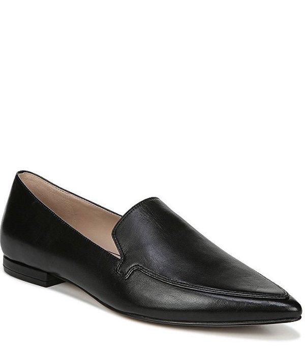 27エディット レディース スリッポン・ローファー シューズ Hannah Leather Dress Loafers Black Leather