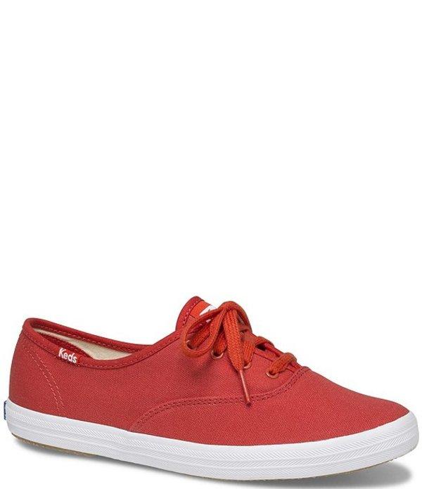 ケッズ レディース スニーカー シューズ Champion Seasonal Solids Canvas Sneakers Red