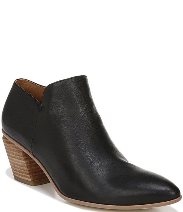 フランコサルト レディース ブーツ・レインブーツ シューズ Sarto By Franco Sarto Karson Leather Block Heel Booties Black