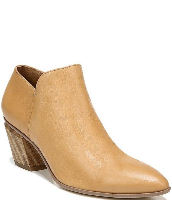 フランコサルト レディース ブーツ・レインブーツ シューズ Sarto By Franco Sarto Karson Leather Block Heel Booties Camel