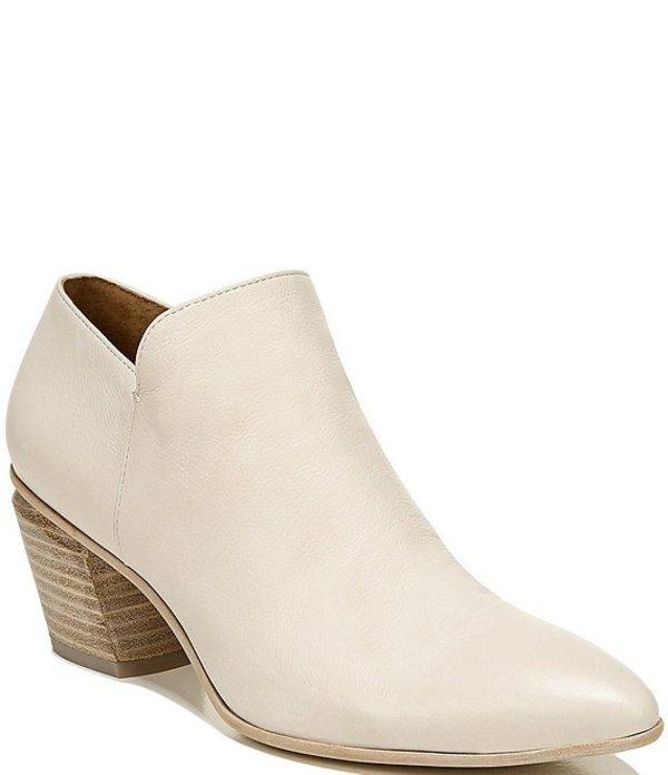 フランコサルト レディース ブーツ・レインブーツ シューズ Sarto By Franco Sarto Karson Leather Block Heel Booties Ecru