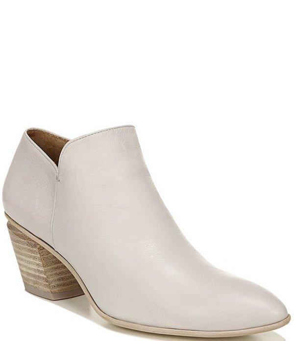 フランコサルト レディース ブーツ・レインブーツ シューズ Sarto By Franco Sarto Karson Leather Block Heel Booties Lt Grey