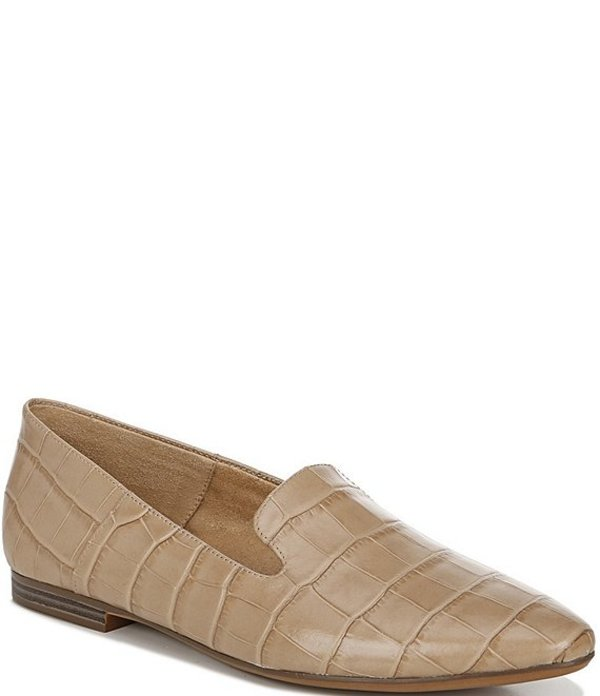 ナチュライザー レディース サンダル シューズ Lorna Croco Embossed Leather Flats Bamboo Croco