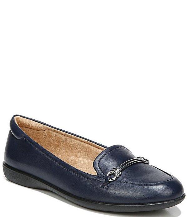 ナチュライザー レディース サンダル シューズ Florence Leather Bit Buckle Detail Loafers Navy Leather