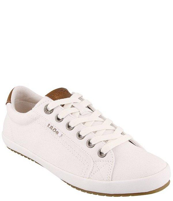タオスフットウェア レディース スニーカー シューズ Star Burst Canvas Sneakers White/Tan