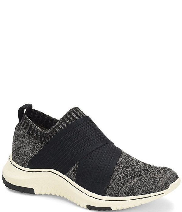 ビオニカ レディース スニーカー シューズ Ocean Stretch Knit Mesh Slip On Sneakers Black/Grey