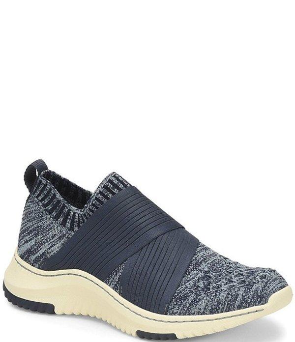 ビオニカ レディース スニーカー シューズ Ocean Stretch Knit Mesh Slip On Sneakers Navy/Light Blue