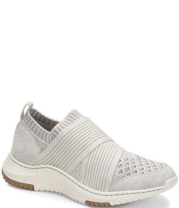 ビオニカ レディース スニーカー シューズ Ocean Stretch Knit Mesh Slip On Sneakers White/Grey