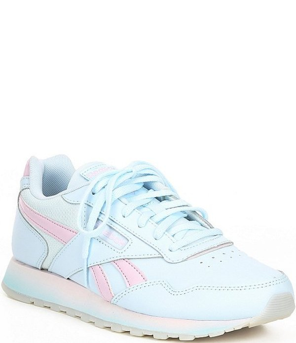 リーボック レディース スニーカー シューズ Women's Classic Harmon Run Shoes Glass Blue/Pixel Pink/White