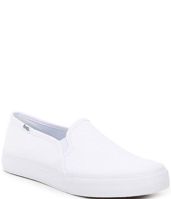 ケッズ レディース スニーカー シューズ Double Decker Canvas Slip On Sneakers White
