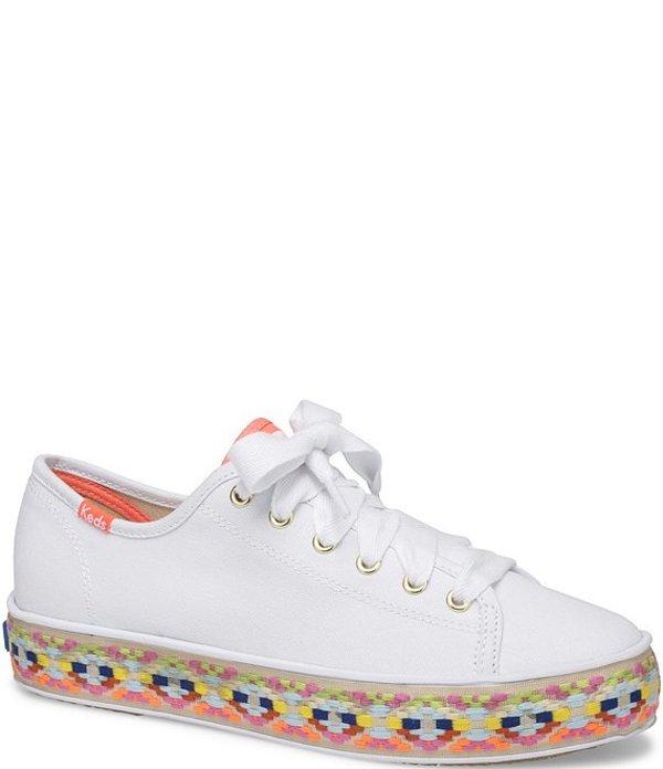 ケッズ レディース スニーカー シューズ Triple Kick Summer Foxing Jute Espadrille Sneakers White