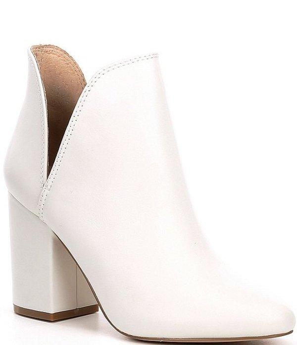 スティーブ マデン レディース ブーツ・レインブーツ シューズ Rookie Leather Block Heel Booties White Leat