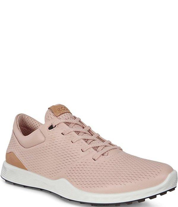 エコー レディース スニーカー シューズ Women's Golf S-Lite Leather Golf Shoes Rose Dust