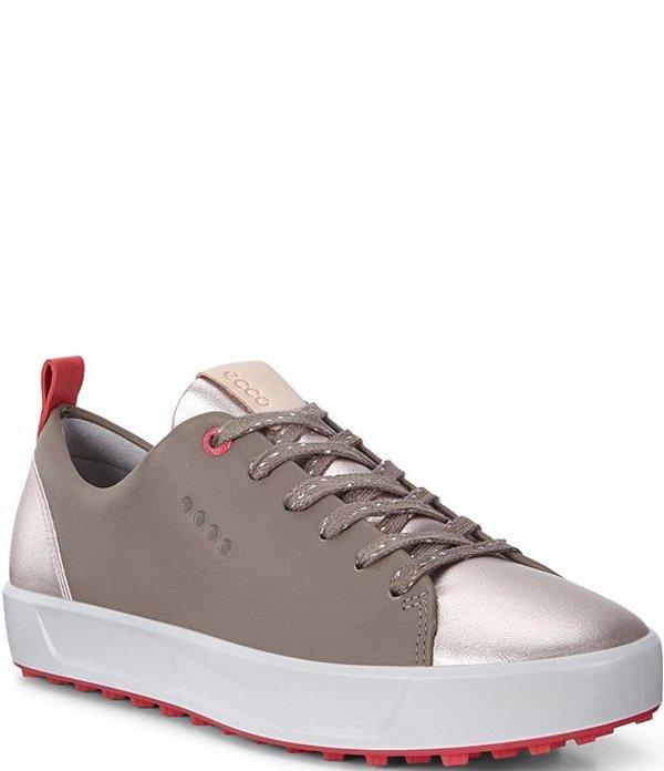 エコー レディース スニーカー シューズ Womens Golf Soft Metallic Leather Golf Shoes Warm Grey