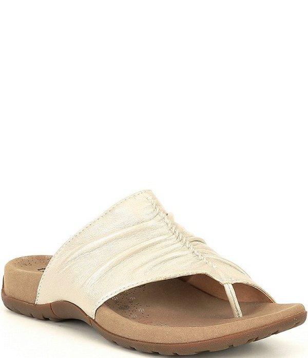 タオスフットウェア レディース サンダル シューズ Gift 2 Leather Thong Sandals White Pearl