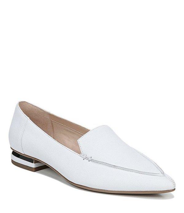 フランコサルト レディース スリッポン・ローファー シューズ Starland Metallic Heel Slip On Flats White
