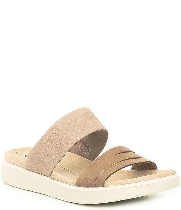 エコー レディース サンダル シューズ Flowt Leather & Suede Slide Sandals tan