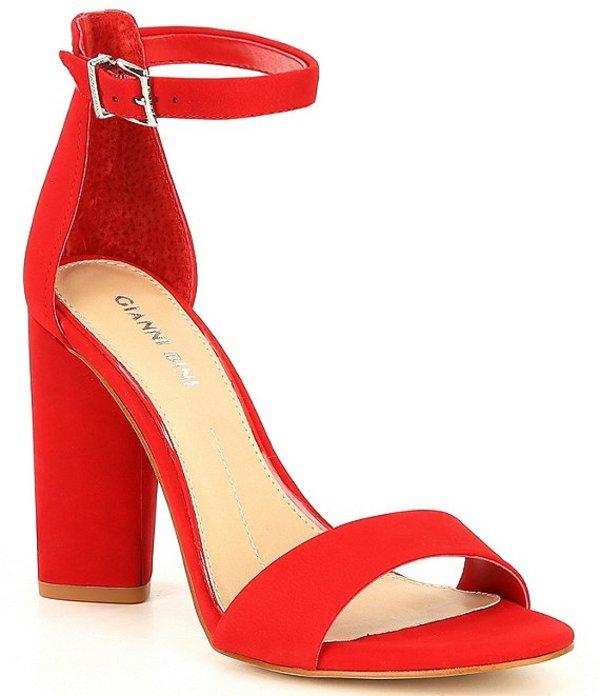 ジャンビニ レディース サンダル シューズ Joenah Suede Block Heel Dress Sandals Santorini Red