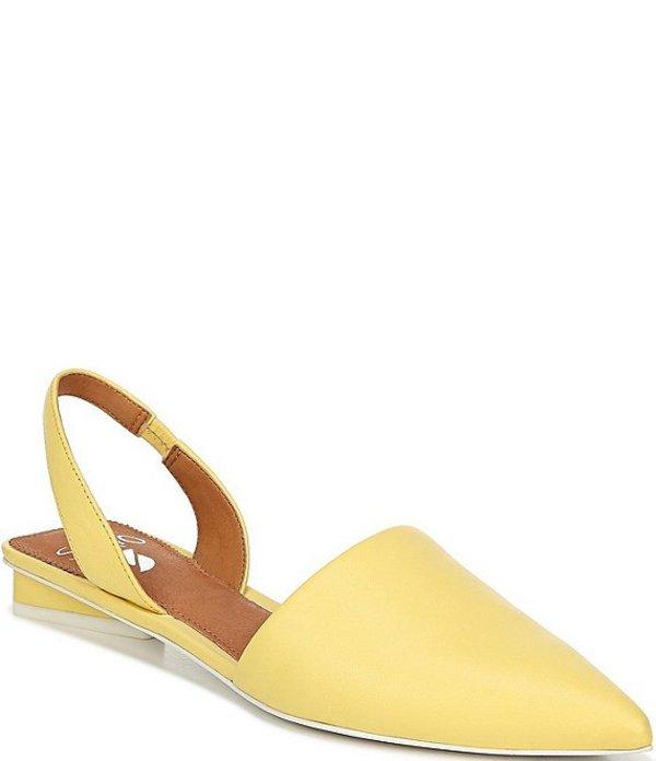 フランコサルト レディース パンプス シューズ Sarto By Franco Sarto Graydon Leather Block Heel Slings Citron