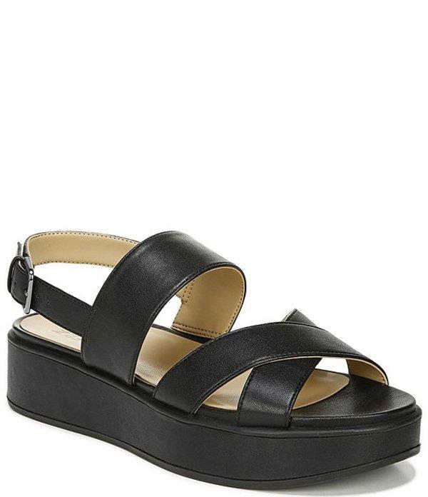 ナチュライザー レディース サンダル シューズ Caryn Banded Slingback Platform Sandals Black Smooth