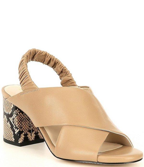 コールハーン レディース サンダル シューズ Anastasia Leather City Snake Print Block Heel Sandals Amphora Leather
