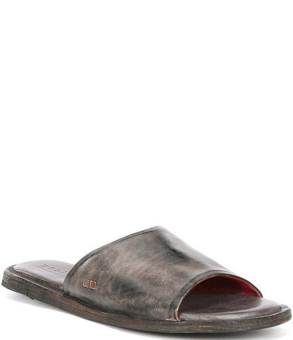ベッドステュ レディース サンダル シューズ Kate Tanned Leather Flat Slide Sandals Graphito Rustic