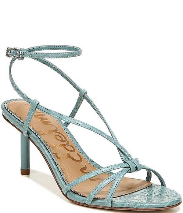 サムエデルマン レディース サンダル シューズ Pippa Ankle Strap Leather Dress Sandals Blue Sage