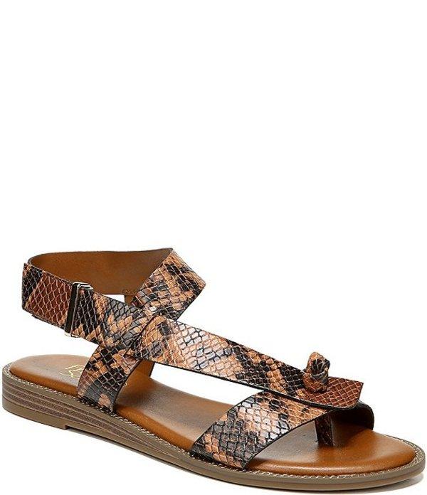 フランコサルト レディース サンダル シューズ Glenni Snake Print Thong Sandals Brown