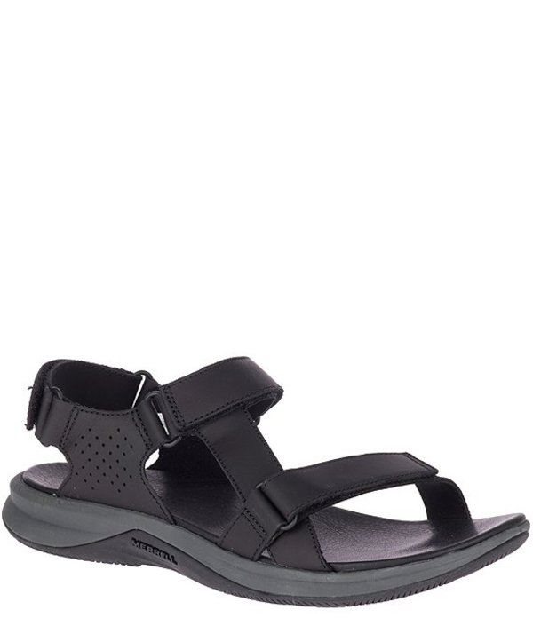メレル レディース サンダル シューズ Women's Tideriser Luna Convert Leather Sandals Black