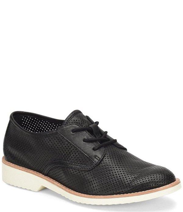 ソフト レディース オックスフォード シューズ Simons Perforated Leather Oxfords Black