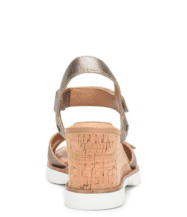 Sandals サンダル シューズ Cyndy レディース ソフト Metallic Wedge ...