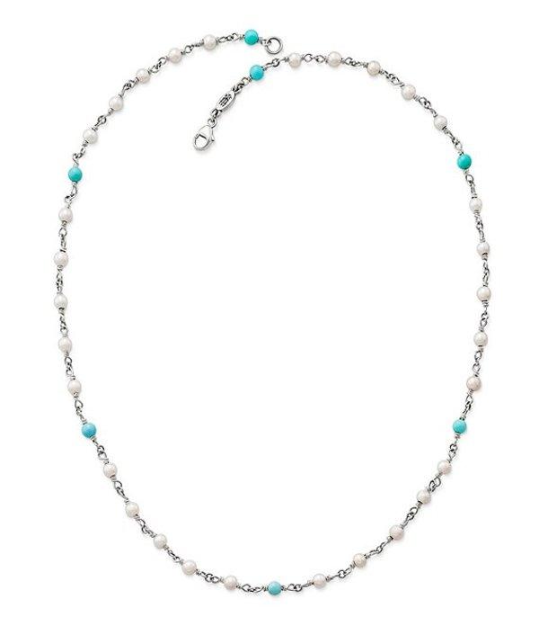 ジェームズ エイヴリー レディース ネックレス・チョーカー アクセサリー Santorini Turquoise & Pearl Necklace Silver/Turquoise
