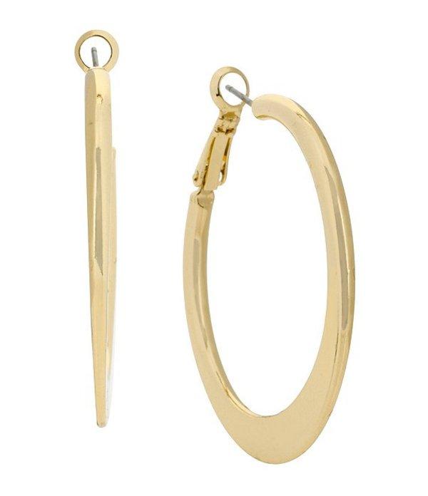 ケネスコール レディース ピアス・イヤリング アクセサリー Logo Knife Edge Hoop Earrings Gold